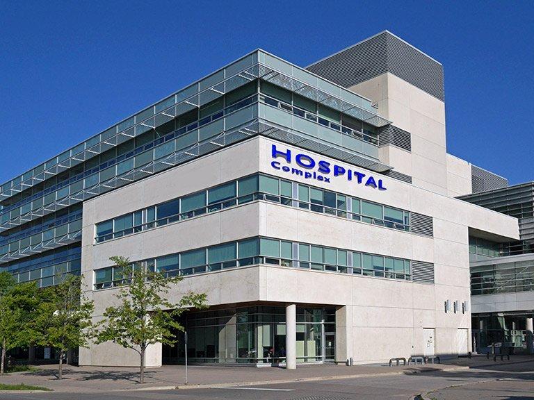 Hospital roof, Burlington, Oakville